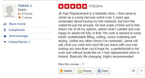 Patrick review yelp