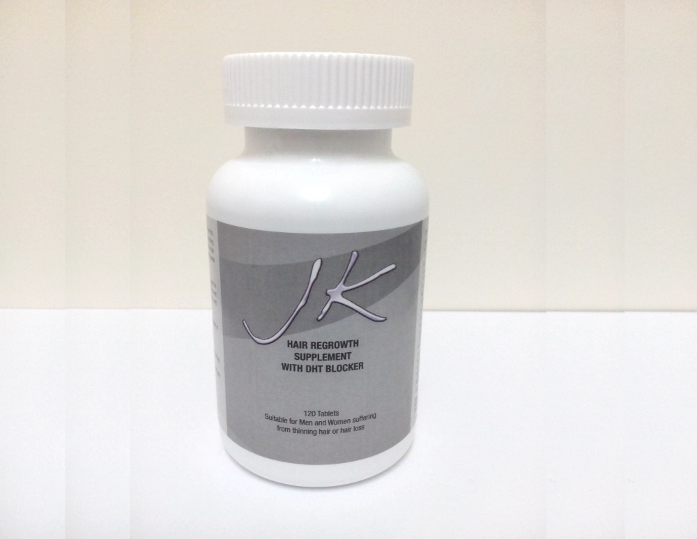 JK Hair Regrowth Supplement - stops hair loss and promotes strong healthy hair