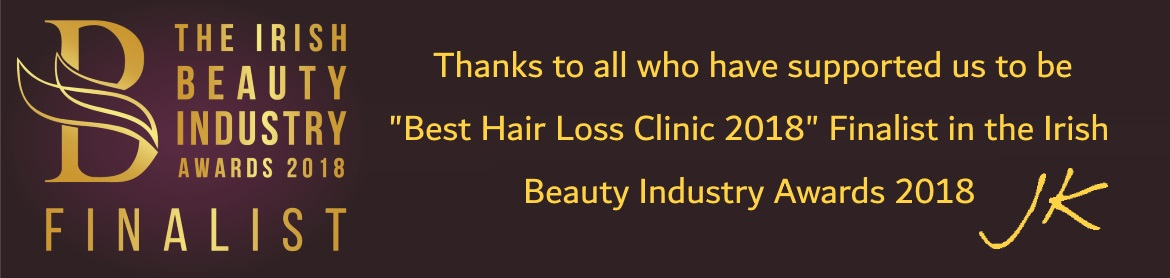 Hair Loss Clinic Finalist JK Hair Replacement Irish Beauty Awards